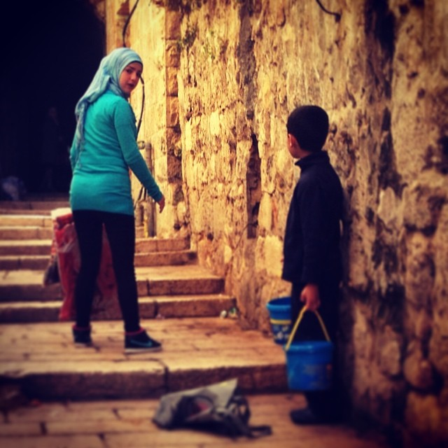 Brother and sister in Jerusalem...