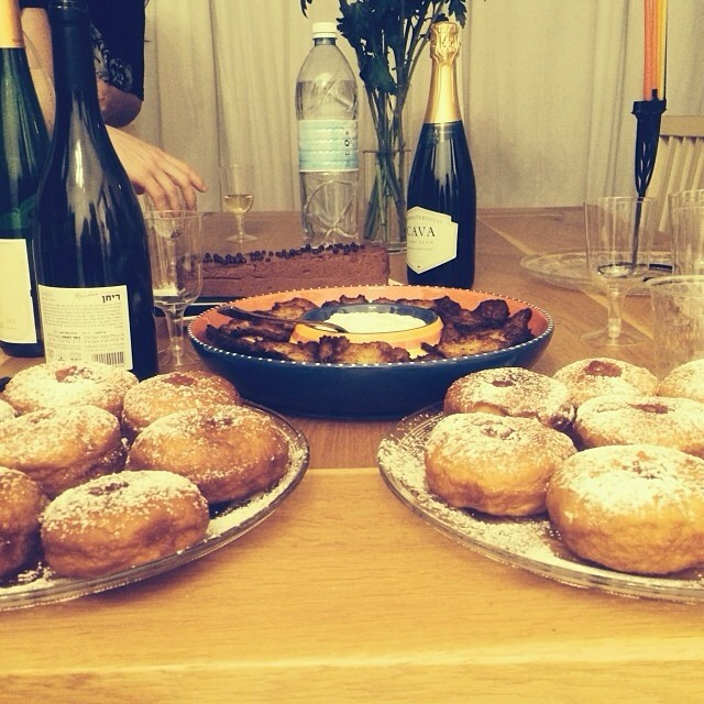 We can feel the taste of the amazing home-made Sufganiot by @bia_g ! Happy Chanooka