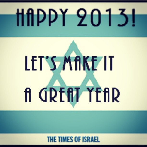Happy 2013! Let's make it a great year!