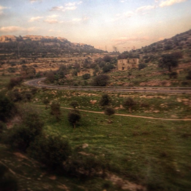 The view from the train from Tel Aviv to Jerusalem