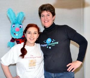 Children's Bilingual Theatre founder Jordan Schwartz (left) and Liz Vitale