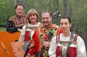 Gregory Carageorge (L-R), Lynn McConnell, David Cooper and Angelina Galashenkova-Reed of Troika Balalaikas. PHOTO / Lynn McConnell