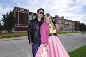 """""""Grease"""" stars Josh Howland as Danny and Bess Winebarger as Sandy. PHOTO / PeachtreePix.com"""
