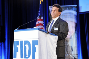 Gary Sobel speaks at the 2012 FIDF Gala. PHOTO/FIDF