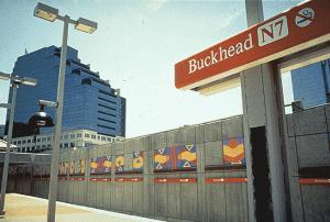 Steve Steinman's work at the Buckhead MARTA Station.