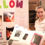 Epstein Student Noam Friedman and her iPillow. PHOTO / The Epstein School