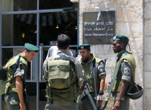 Soldiers, trained in urban warfare and fully armed, regularly patrol the streets of Israel to protect tourists and the citizens of the country from terrorist attacks. PHOTO / Ron Feinberg