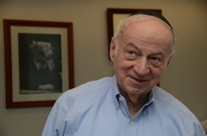 """Julius Berman, chairman of the board of the Claims Conference, said alleged fraud at the Claims Conference amounted to """"phony evidence"""" provided for claims of eligibility for Holocaust compensation. The fraud lasted for about a decade-and-a-half and allegedly deprived Holocaust survivors of more than $57 million. PHOTO / Maxine Dovere."""