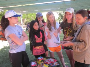 """Davis students share their CD, """"Be a Blessing,"""" with Neve Shalom community members. PHOTO / Davis Academy"""