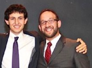 Yeshiva Atlanta STAR student Elan Miller (left) and STAR teacher Rabbi Asher Yablok. PHOTO / Special for the AJT