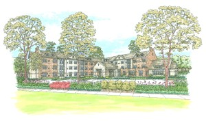 Artist rendering of Berman Commons, new assisted living facility that will be part of the Breman Jewish Home.