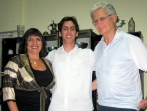 Debby Bettsak (L-R), Avihai Vidoren and Sam Bettsak. PHOTO / FIDF