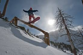Snowboarder Seth Hill shows his stuff during a competitive outing earlier this year.