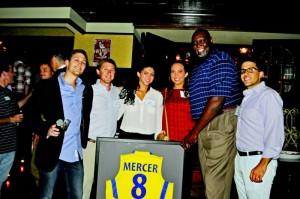 Brad Oppenheimer (L-R), Matthew Oppenheimer, Halle Lauren, Lisa Radow, Lavon Mercer and Tal Ovadia. PHOTO / MJCCA