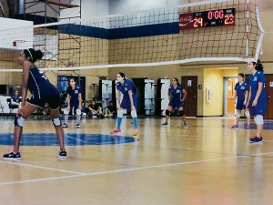 GHA's girls volleyball team wins big during recent divisional tourney.