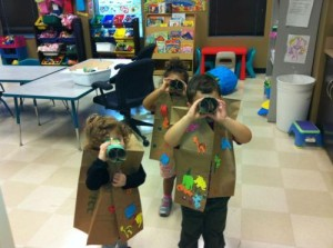 "Youngsters in Gesher L'Torah's preschool stay busy and have some fun on a recent ""safari""!"