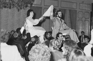 "Rabbi Neil Sandler and his ""Beshert"" celebrate on their wedding day."
