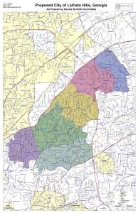 LaVista Hills map for Atlanta Jewish Times