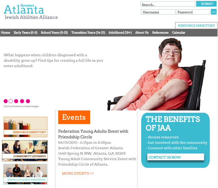 Greater Atlanta Jewish Abilities Alliance website