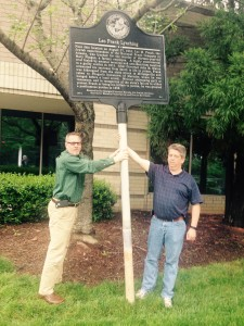 The Georgia Department of Transportation has this marker in storage until it finds a place for it after the years-long construction project on Interstate 75.