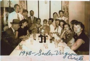 1948 Galanti seder for Atlanta Jewish Times
