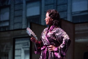 """Crystal Fox, once the understudy, stars in """"Blues for an Alabama Sky"""" at the Alliance. (photo by Jeff Roffman)"""
