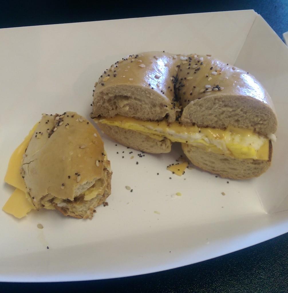 Arts Bagels - Egg Sandwhich