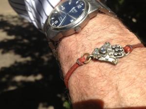 Dr. Steven Jaffe wears a hamsa bracelet for good luck.