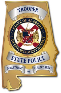 The emblem of the Alabama Law Enforcement Agency features the state coat of arms.