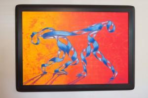 "Ricardo Siccuro painted ""Orange Swirl Dancers"""