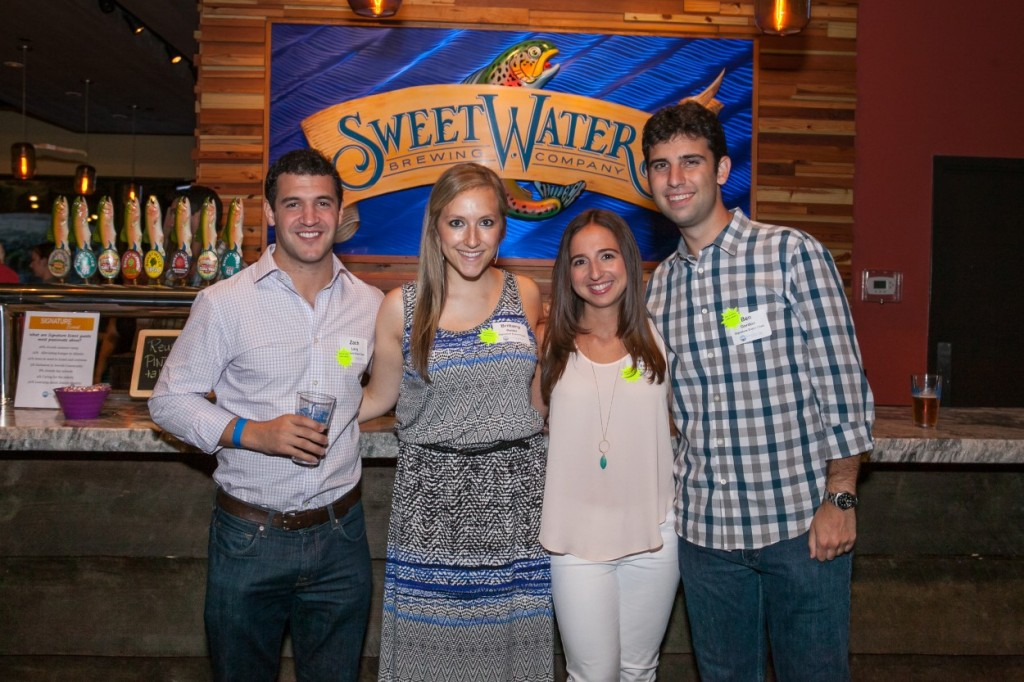 (From left) Zach Levy, Brittany Reiter, Felicia Edlin and Ben Gordon serve as the Signature Event chairs.