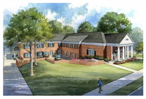 An artist's rendering of the planned AEPi house at Georgia Tech