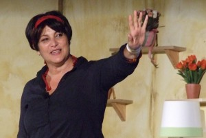 Naomi Ackerman portrays the abused Michal.