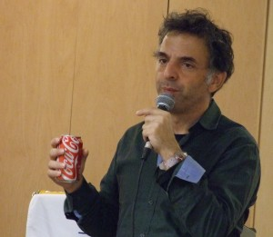 Israeli author Etgar Keret speaks to students at the Weber School on Oct. 21.