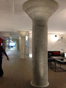 Original columns complement rather than define office space at Ponce City Market.