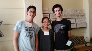 Atlanta Jewish Academy juniors Max Cohen (left), Ruby Jacobs and Ezra Blaut are delegates to the ADL's National Youth Leadership Mission.