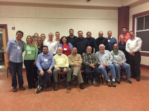 The Atlanta rabbis and the Hartman scholars gather for a retreat photo.