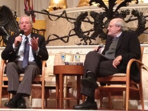 Dennis Ross and Ken Stein talk about the Middle East at The Temple on Monday, Nov. 9.