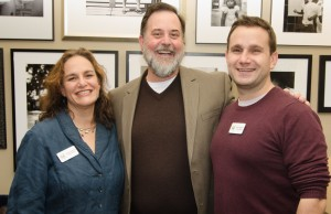 Executive director of SOJOURN Rebecca Stapel-Wax (left) and Education Director Robbie Medwed (right) with Jeff Graham