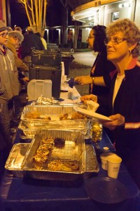 Latkes and doughnuts, the traditional fried foods of Chanukah, await the crowd in Peachtree City.
