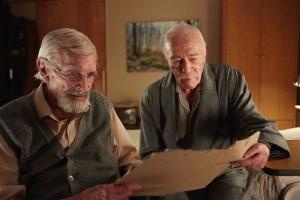"Martin Laundau (left) and Christopher Plummer star in ""Remember."""