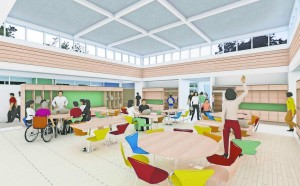 The Hub is a crucial open space to add capacity, flexibility and comfort to the TFI WORKS building.
