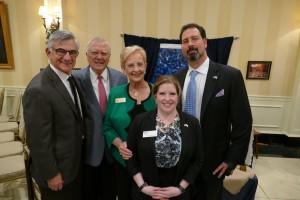 (Left to Right) Rabbi Scott E. Colbert, Governor Nathan Deal, Sandra Deal, Cantor Lauren Adesnik and Rabbi Spike Anderson.