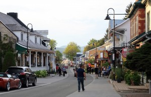 Baie St. Paul in the Charlevoix region features pleasant shops and restaurants.