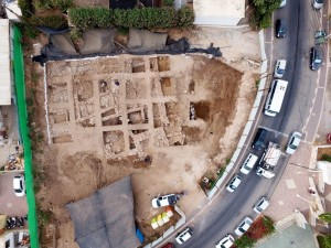 The excavation is on Balfour Street in Nahariya.