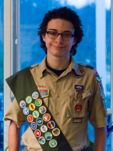 Samuel Ellis is a few mosaic tiles away from achieving the rank of Eagle Scout.