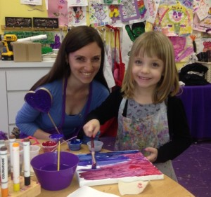Marni Bronstein and her little PAL create artwork and memories.