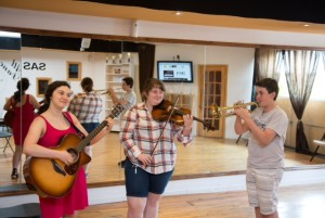 Campers at Judaic Mosaic are free to record any kind of song they choose.