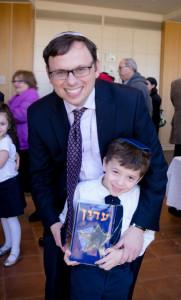 Rabbi Adam Starr and son Adin