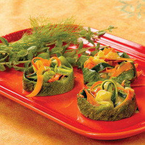 """Ribboned Carrots and Zucchini from Nathalie Dupree and Cynthia Graubart's """"Mastering the Art of Southern Vegetables"""""""